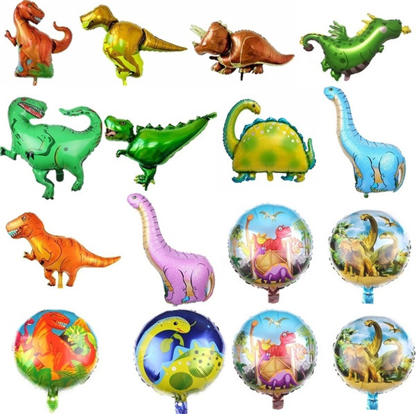 Nuevo Jurásico Dinosaurio Globo Tiranosaurio Raptor Triceratosaurus Bebé Cumpleaños Globos Película de Aluminio Globo Decoración Del Partido I525