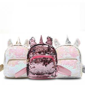 Mujeres Lentejuelas unicornio Mochila Lindo mini bolso de hombro de la historieta Niños Niñas Lentejuelas Escuela de Viajes Mochila Al Aire Libre AAA1691