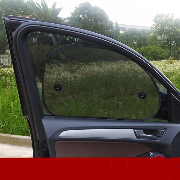 65 * 38cm 2pcs arrière côté voiture fenêtre écran pare-soleil voiture pare-brise-soleil Mesh rayons UV pare-soleil Protector