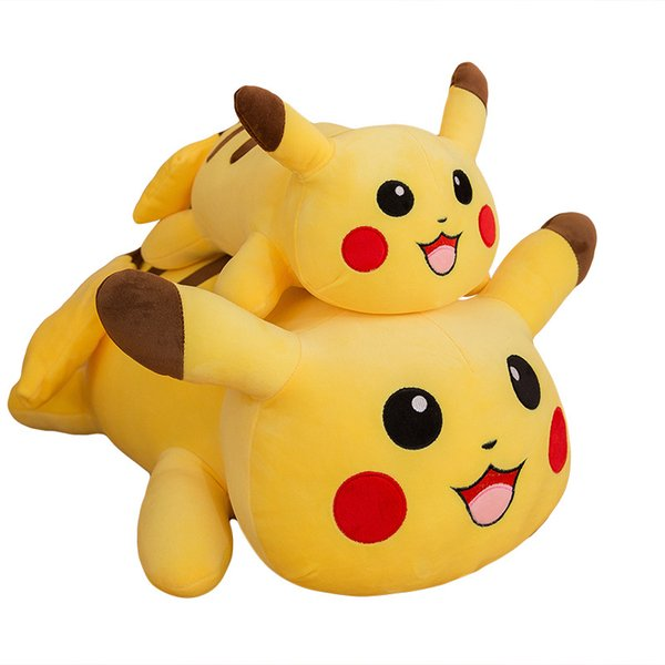 High Quality 100% Cotton 15.5inch 40cm Pikachu Pillow Plush Toy Animals For Child Holiday Gifts