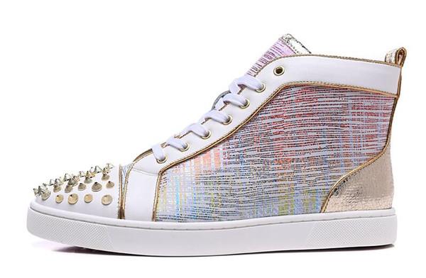 Moda yeni perçin erkekler ayakkabı Avrupa ve Amerikan rahat lace up düz ayakkabı erkek sihirli renk dört mevsim tarzı