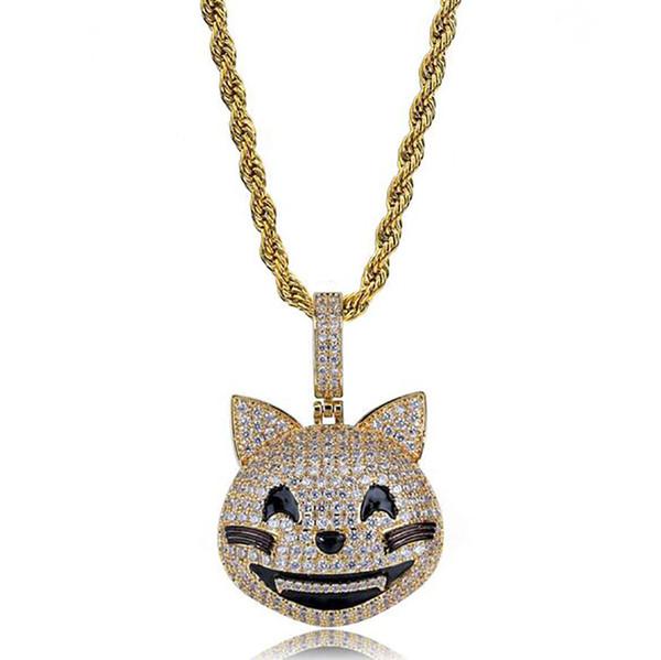 grinning cat+rope chain