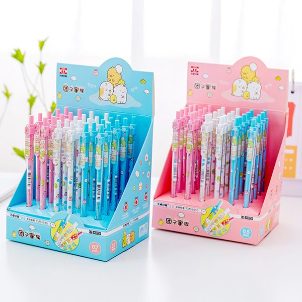 3pcs/lot Cute Activity Cartoon 0.7and 0.5mm two choose Automatic Pencil Pen For School And Office Supply Stationery
