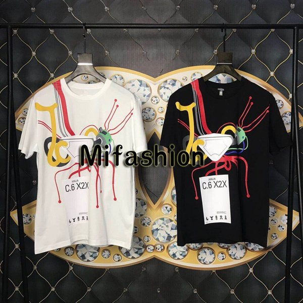 19ss Luxus Europa Italien MIlano Hohe Qualität Roboter C 6 X2X T-shirt Mode Herren Designer Frauen T-shirt Lässig T-stück