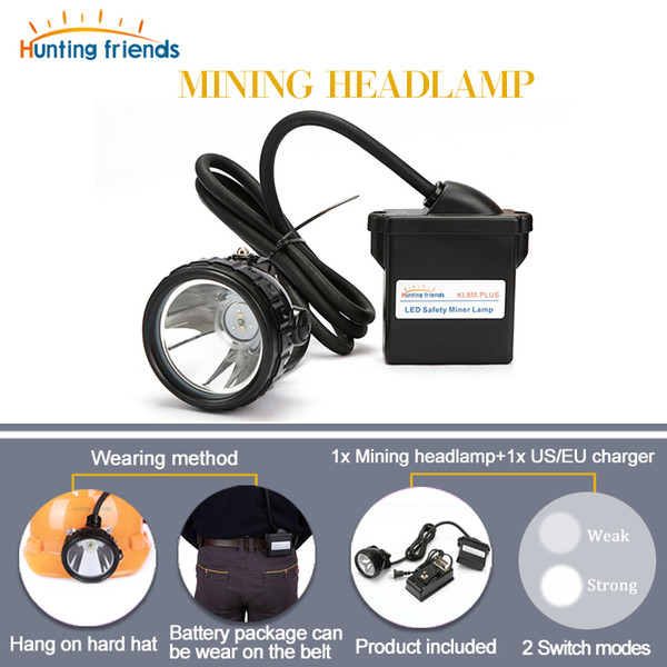 KL8M.Plus LED Mining Headlamp Waterproof Mining Light Explosion Proof Mining Cap Lamp Rechargeable Flashlight Headlamp for Hat