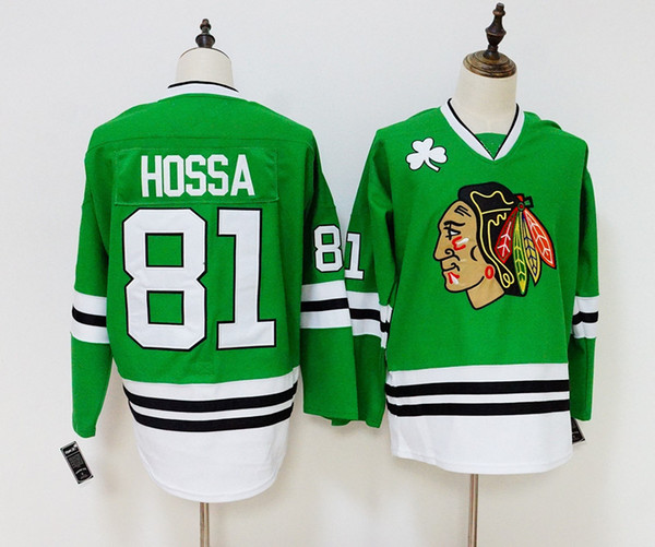 new product 0dbe8 5a8d3 2019 Chicago Blackhawks Jersey 19 Jonathan Toews 81 Marian Hossa 88 Patrick  Kane Green Jersey Stitched Hockey Jerseys From Shopping2019, &Price; | ...