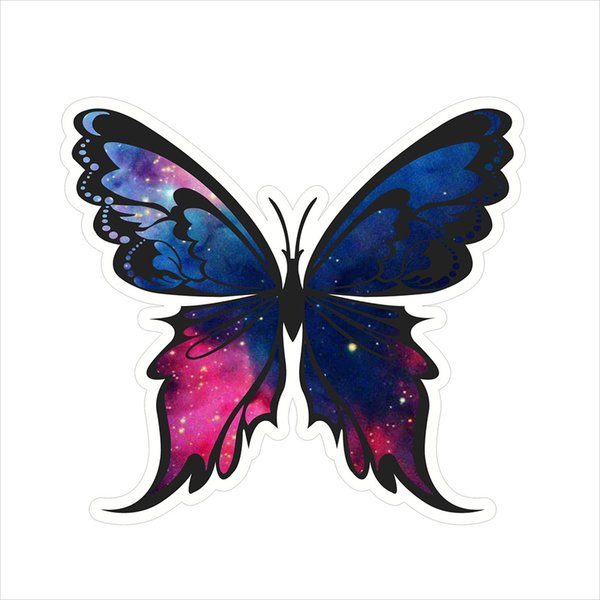 For King Butterfly Helmet Toolbox Car Window Vinyl Sticker Applique Personalized Accessories