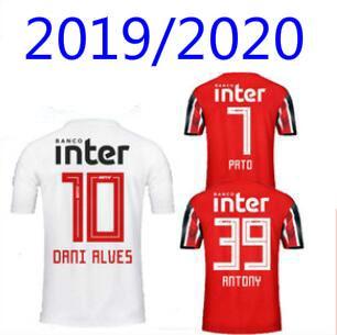 NENE 19 20 Sao Paulo Forması siyah uzakta kırmızı Futbol ÜST 2019 2020 ARBOLEDA REINALDO Brezilya Kulübü Ev beyaz futbol gömlek DIEGO SOUZA