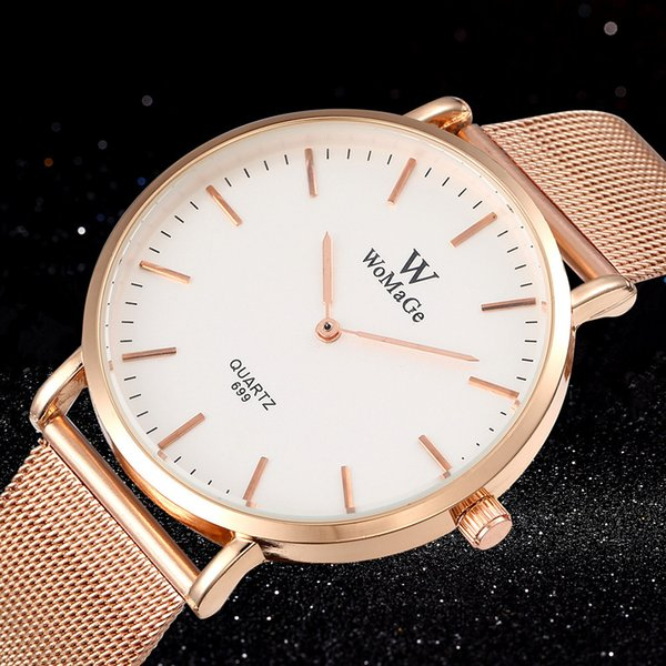 drop shipping explosion models fashion alloy mesh belt couple watch simple women's and men's quartz watch support wholesale - from $28.58