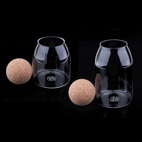 top popular 2 Pieces Glass Storage Jars Clear Dry Food Preserving Coffee Container New 2021