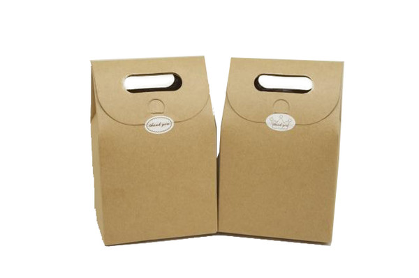 kraft paper bag/box with handle for tea/tea/cookie/candy gift packing bag/box 2 color for choice free shipping by DHL mini order