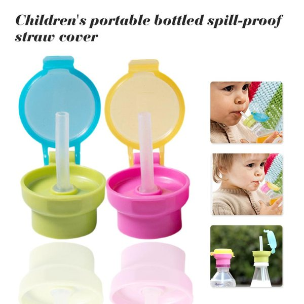 No Spill Choke Cute Water Bottle Adapter Cap With Tube Drinking Straw For Baby Infants Kid Easy Portable Hygiene Drink Feeder