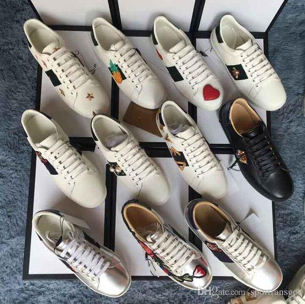 Высокое качество большой размер US5-US13 белый черный обувь дизайнер кожаные тузы туфли мужчина женщины плюс размер роскошные повседневные туфли с мешком пыли