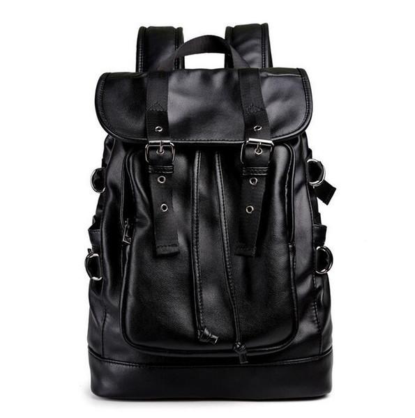 Pacote de marca de fábrica por atacado, moda flip top cinto decoração, estudante saco de couro wearable à prova d 'água, mochila de couro coreano