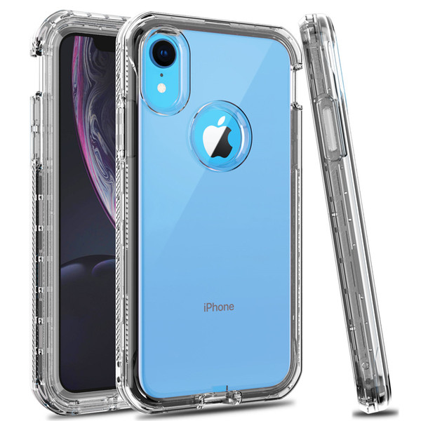 best selling Phone Case for Iphone Xr 3 In 1 Clear Hybrid Soft TPU Bumper Back Cover Defender Case For Iphone Xs Max