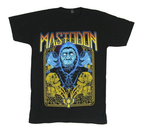 Mastodon Ape Sasquatch Bigfoot Черная футболка новый официальный оркестр Merch