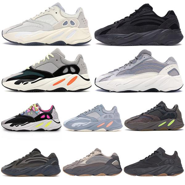 Adidas Yeezy Boost Geode Cimento Inércia 700 V2 Sapatos de Corrida Estática Kanye West Wave Corredor Branco preto Malva Dos Homens Das Mulheres 700 s sports sneakers 36-46 2019