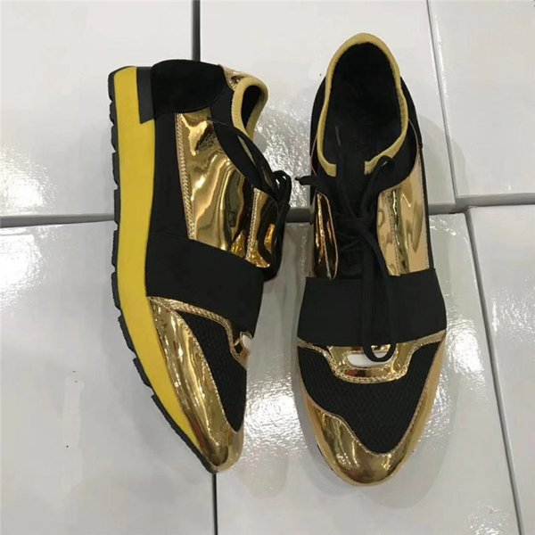 Leather toe/golden
