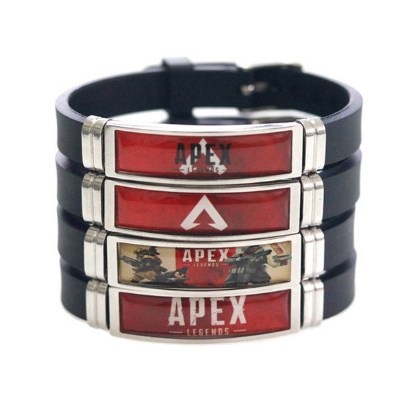 Apex Legends Bracelet Colorful Stainless Steel Game Logo Printing Silicone Bracelets Men Women New Arrival Fashion Cuff Jewelry Wholesale