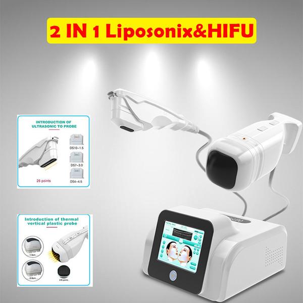 2018 Hifu Liposonix 2 In1 Face And Body Machine High Intensity Focused Ultrasound Hifu Machine Liposonic Slimming Beauty Equipment