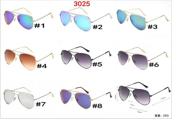 10 шт., Сша солнцезащитные очки бренд дизайнер женщины мужчины классический стиль большая рамка солнцезащитные очки тени вождения очки зеркало очки 30RAY25