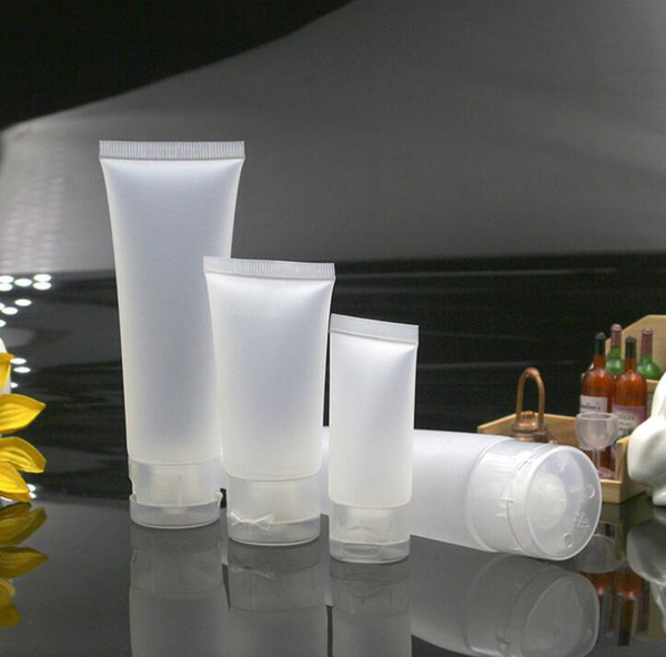 Tubos de viaje portátiles vacíos Exprimir Envases de cosméticos Loción de crema Botellas de plástico Botellas recargables 20 ml 50 ml 30 ml 100 ml