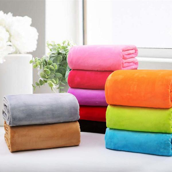 Hundeflanelldecken Puppy Solid Color Bettdecken Soft Warm Pets Decken Schlafkissen Rest Mat Hundebedarf TTA1363