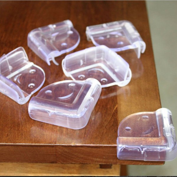 2//10Pcs Clear Rubber Corner Edge Cushion Pads Guard Baby Child Safety Protector