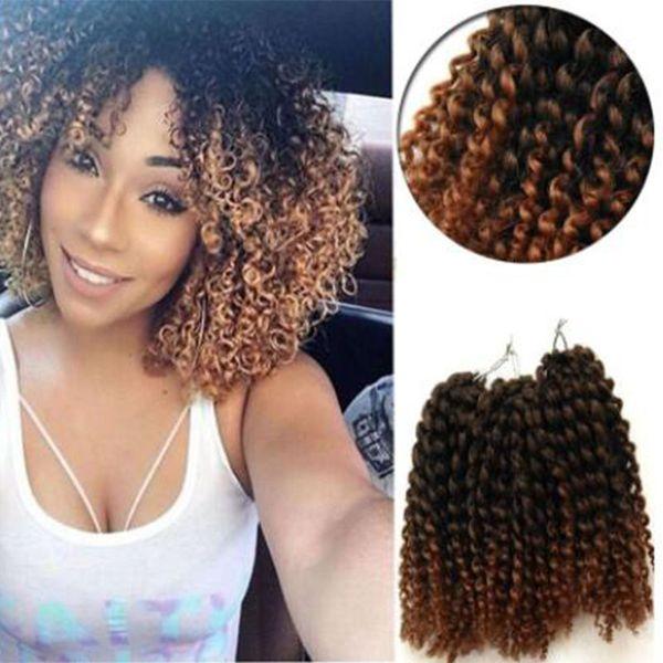 3 teile / satz 10 zoll Marlybob Crochet Twist Braid Haar synthetische flechthaar Jerry lockige kanekalon Faser Häkeln Haarverlängerungen