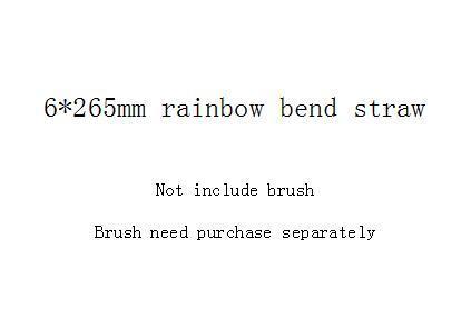6 * 265mm قوس قزح منحنى القش
