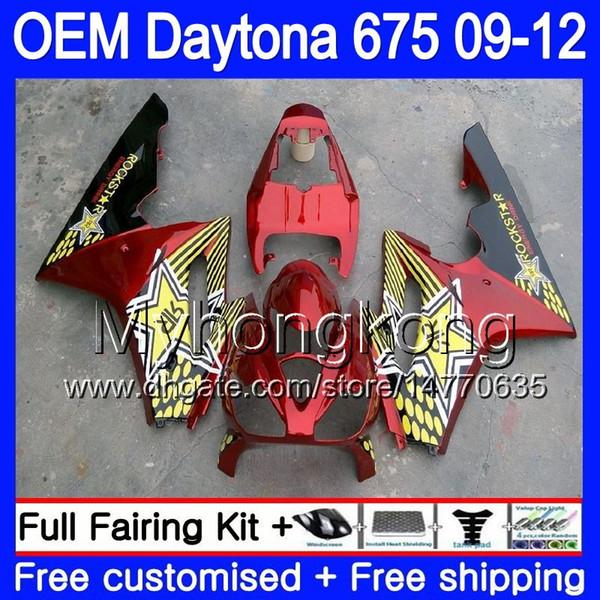 Injection For Triumph Daytona 675 09 10 11 12 Bodywork 323HM.9 Daytona-675 Daytona675 Daytona 675 Dark red stock 2009 2010 2011 2012 Fairing