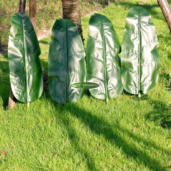 Fronda Muebles De Jardin.Compre 4 Unids Grande 75 Cm Latex Artificial Planta De Platano Hoja De Arbol Fronda Boda Hogar Jardin Decoracion Patio Al Aire Libre Verde A 21 11