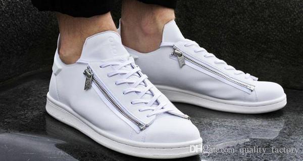 Nuevo Y-3 zip Casual Shoes hombres mujer alta calidad Y3 negro blanco verde zapatillas clásicas zapatillas clásicas Tamaño Eur 36-44
