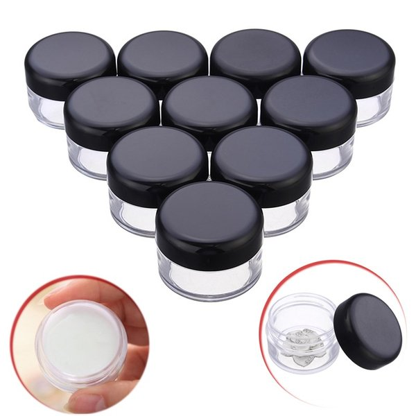 150Pcs 20ml Plastic Clear Empty Pot Jar Refillable Bottle Nail Art Bead Storage Case Cosmetic Skin Care Cream Sample Container
