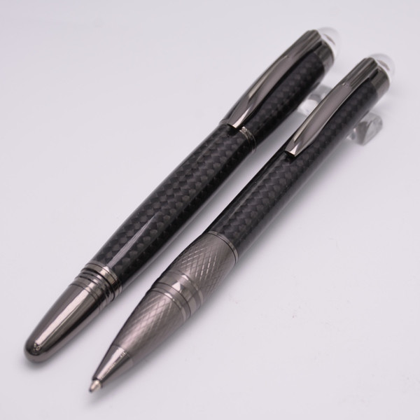 Wholesale Brand Pens Ultimate Carbon Features An Anthracite Carbon-fiber Barrel Decorated Roller Ball Pen / Ballpoint Pen Luxury Twist Gift