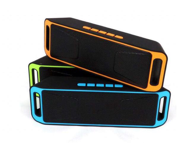 Altoparlanti Bluetooth senza fili di SC208 Altoparlanti mini altoparlante portatile Bass Sound Subwoofer Altoparlanti per Iphone Smart phone e Tablet PC di alta qualità