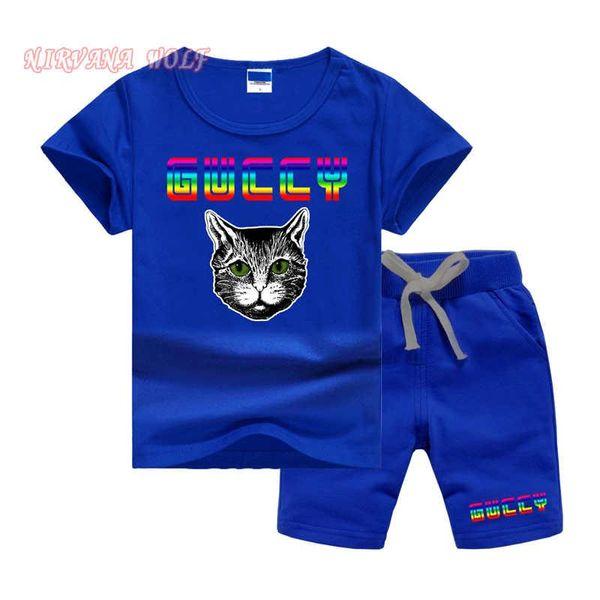 scherzt Entwerfer kleidet Mädchen T-Shirt und kurze Hosen 2Pcs / sets Baby-Mädchen 95% Baumwollmuster-Entwurfs-Druckart-Sommer-Sätze