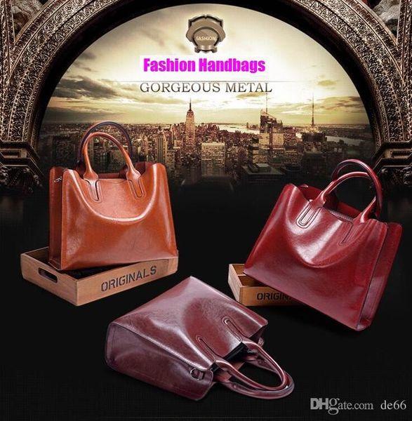 Women Oil Wax Leather Designer Handbag High Quality Shoulder Bag Ladies Handbags Fashion brand PU leather women bags Lover Kiss gift