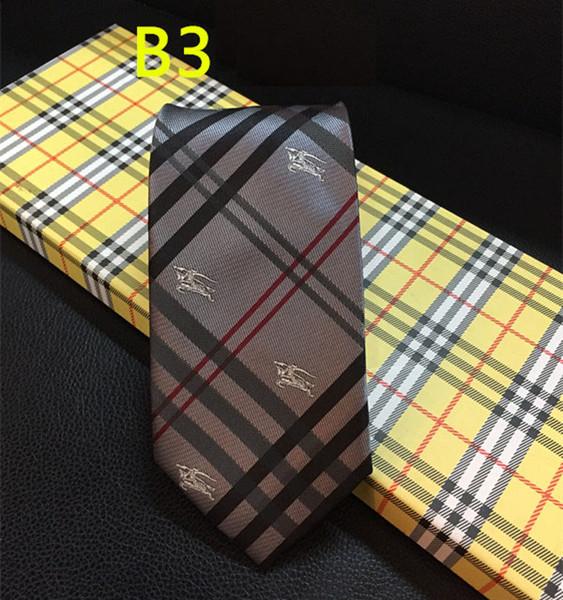 2018 Luxury Mens Tie 7CM a righe di seta cravatte tessute jacquard collo cravatta per gli uomini formale cravatta di marca di feste di nozze con scatola