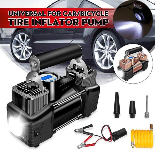 Pompa di gonfiaggio della gomma del pneumatico dell'automobile del compressore d'aria del doppio cilindro portatile digitale universale di 12V 150PSI per i camion dell'automobile con luce