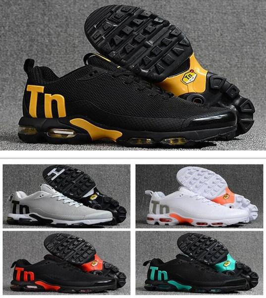 Zapatillas de deporte para hombre Mercurial Plus Tn Ultra SE negro blanco naranja Desinger Zapatillas de deporte Mujer Hombre Zapatillas Deportivas