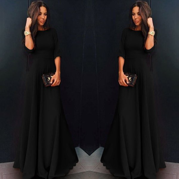 752f767d792 2018 Autumn Winter Plus Size Vintage Lace Midi Dresses Women Elegant  Bodycon Black Maxi Dress Party