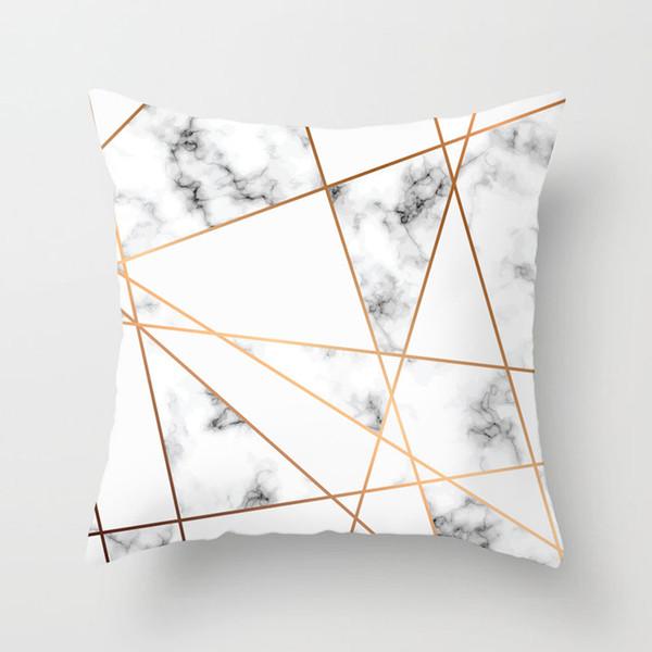 cubierta de la almohadilla de melocotón modernos cojines del sofá minimalista sala de estar de moda nórdica geométrica de color rosa por el amortiguador de la almohadilla de almohada al por mayor de tiro PL