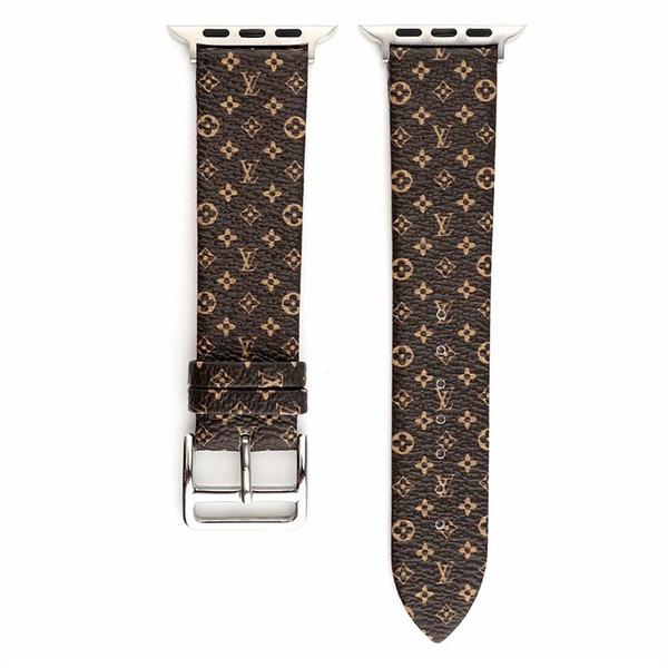 Bandes de poignet pour bracelet de montre Apple Style de loisir pour bracelet Iwatch pour bracelet de montre en cuir de rechange