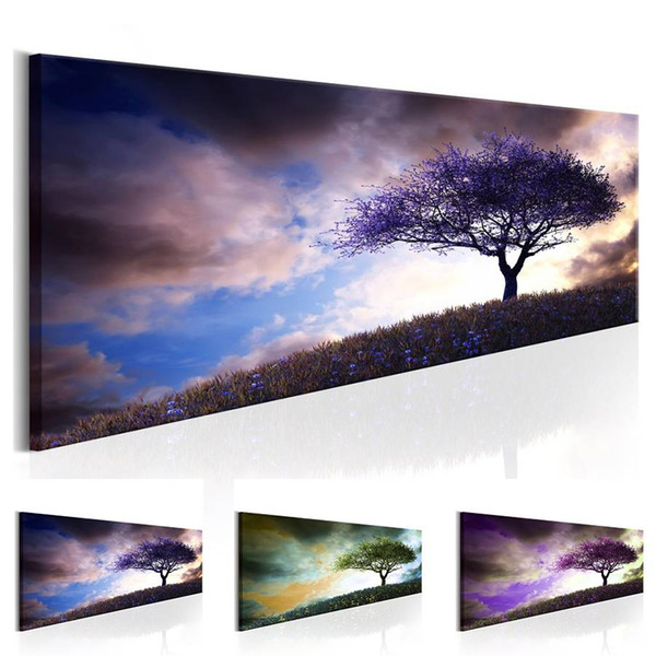 Landscape Tree Abstract Oil Painting on Canvas Home Decor Wall Art Canvas Print Art Decor Watercolor Landscape Multicolor
