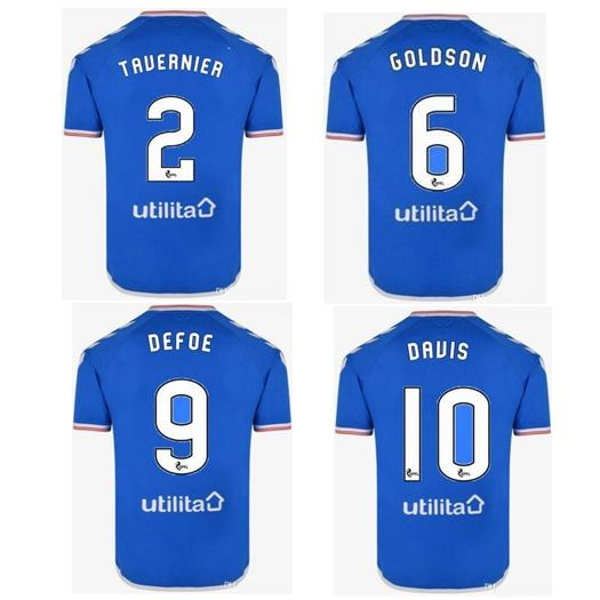 2019 2020 Glasgow Rangers KIT camiseta futbol Soccer Jerseys Adult 19 20 football shirts thailand quality maillots de foot