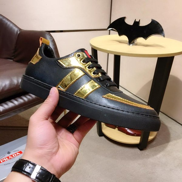 2019h custom leather men's casual shoes, trend wild fashion shoes, DHL with a full set of shoe box delivery, yards 38-45