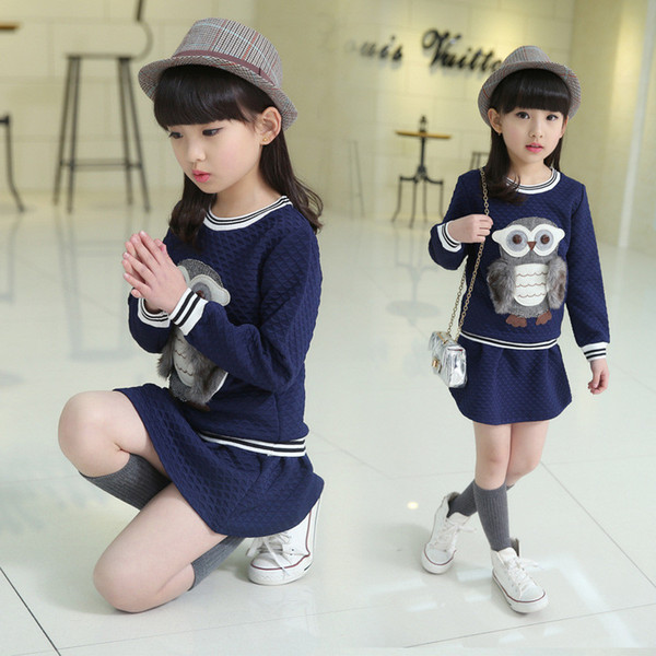 Baby Girls Clothes Spring Autumn Children good quality Girls Clothing Set Dress Suit Party Wedding Fashion Long Sleeve T-Shirt Skirt