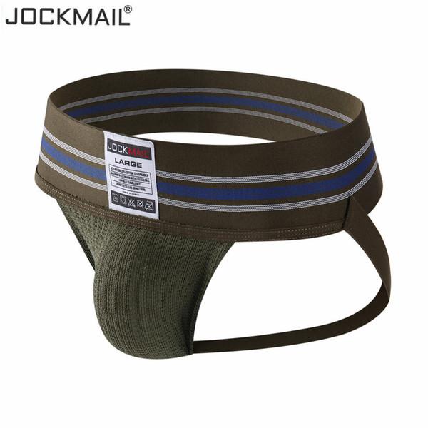 Jockmail Gay Men Underwear Jockstrap Sexy Fashion Hombre Thong Men String Homme Cotton Slip Sports Panties Lingerie G String SH190724
