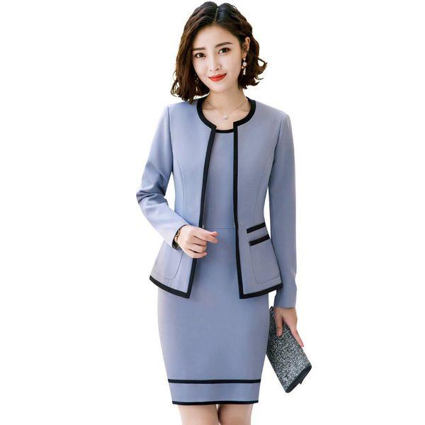 catch on wholesale popular stores 2019 Women Suits Slim Neck Jacket Dress Set Formal Women Dress Suits Womens  Business Suits From Bmw2, $59.3 | DHgate.Com